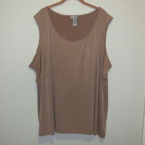 Catherines Tan with flecks of gold tank